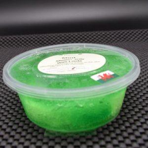 shower jelly mint loofa