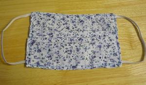 Blue Flowers Adult Mask